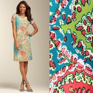 NWT Talbots Seaside Paisley Silk Shift Dress